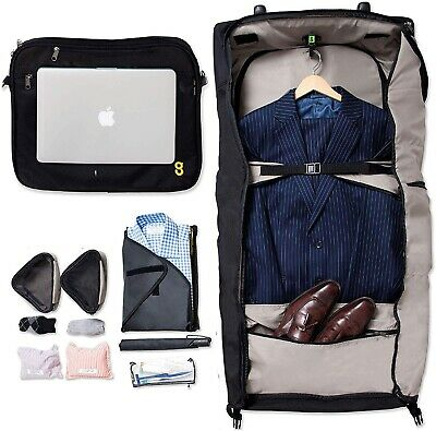GATE8 Garment MATE Carry On Non Crease Suit Carrier Wheel Hand Luggage Cabin Bag • 25£