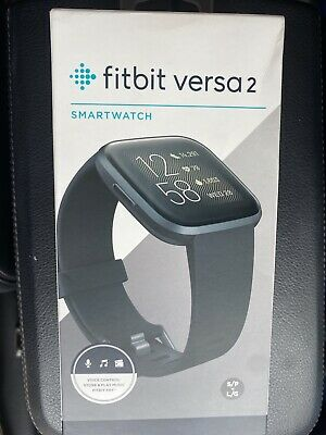 $ CDN184.55 • Buy Fitbit Versa 2 Smartwatch 40mm Aluminum - Black/Carbon With Silicone Band -NEW