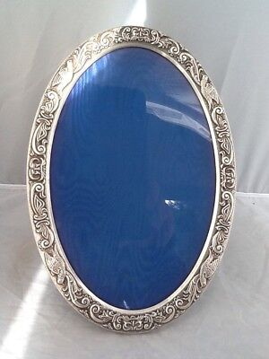 Large Silver Rococo Style Oval Picture Photo Frame - Birmingham 1988 • 130£