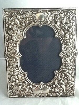 Superb Large Rococo Style Solid Silver Photo Picture Frame - Birmingham 1997 • 125£