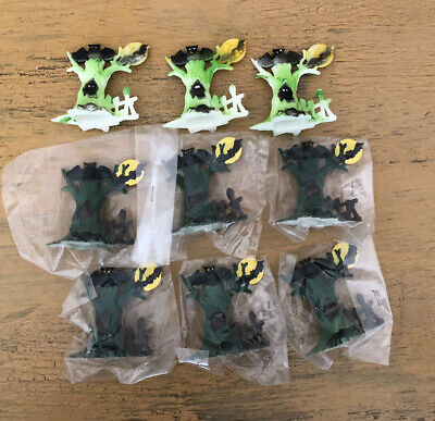 $ CDN52.84 • Buy Vintage Halloween Cake Toppers Tree Moon Fence Bat Lot Of 9