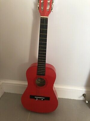 Childrens Red Palma Guitar. 3/4 Size. Excellent Condition - • 8£
