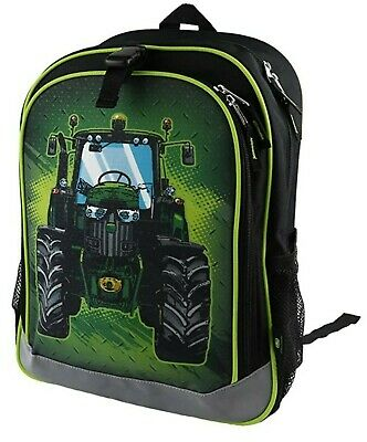 AU54.75 • Buy NEW John Deere Black Tractor Book Bag Backpack LP74365
