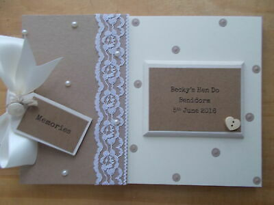 Personalised Vintage Hen Do Party Memories Memory Scrapbook Photo Album Gift • 12.95£