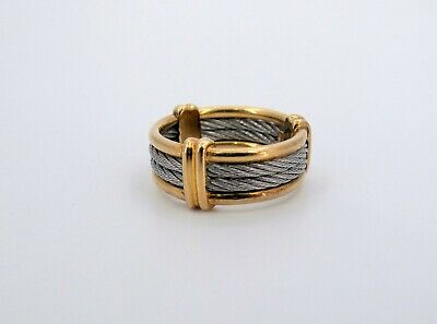 $450 • Buy 18K SS Philippe Charriol Cable Men's Band Ring Fine Jewelry Sz. 9 (RCT)*******
