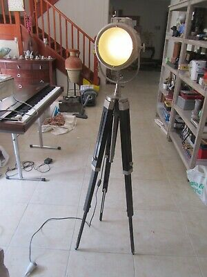 AU69.99 • Buy  Floor Lamp Tripod Natural Wood  Reading Lighting , Shipping Style, 153 Cm High