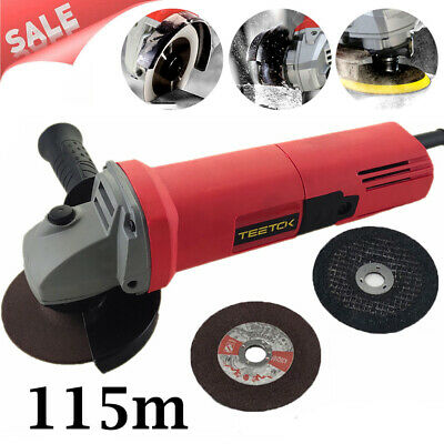 Heavy Duty 115mm 4.5  Electric Angle Grinder Polisher Cutting Sanding Disc AAA • 17.90£