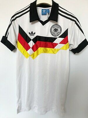 DEUTSCHLAND GERMANY RETRO 1988 90 Shirt Jersey Trikot ADIDAS FOOTBALL XS • 35£