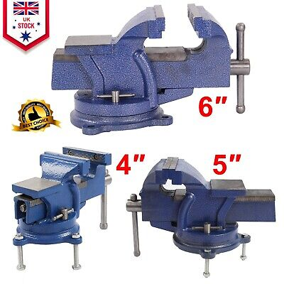 Heavy Duty Engineers Vice Vise Swivel Base Workshop Clamp Jaw Work Bench Table • 16.49£