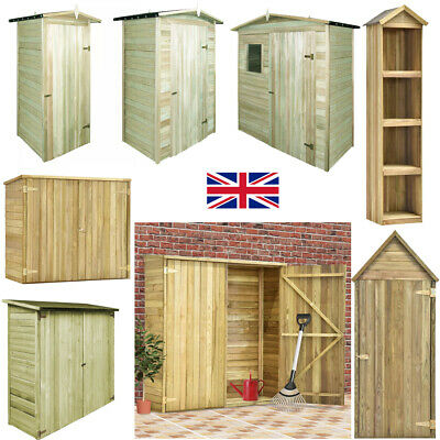 Shed Pinewood Wooden Shed Outdoor Garden Tool Storage Shed Unit Cabinet W/ Roof  • 177.45£