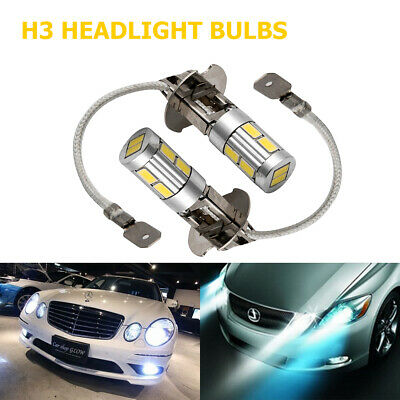 AU18.59 • Buy 2X 10 LED Headlight Fog Driving Light Bulb DRL Car Lamp Globe 6000K H3 5630 SMD