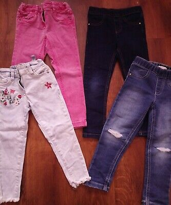 Girls Next & Blue Zoo Jeans Bundle, 4 Years 3-4 / 4-5 • 2.10£