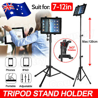 AU25.95 • Buy Adjustable Floor Tripod Tablet Stand Carrying For IPad 7-12 Inch Tablets AU