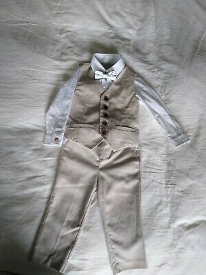 Monsoon Baby Boys Suit Outfit. Shirt, Bow Tie,Waistcoat & Trousers, 12-18 Months • 9.99£