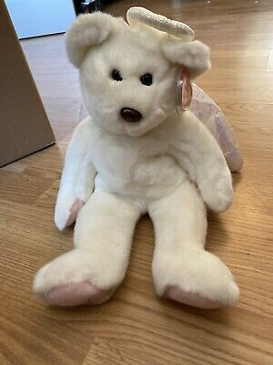 TY Beanie Buddy Halo The Angel Bear With Tag Good Condition Plush Retired • 0.99£