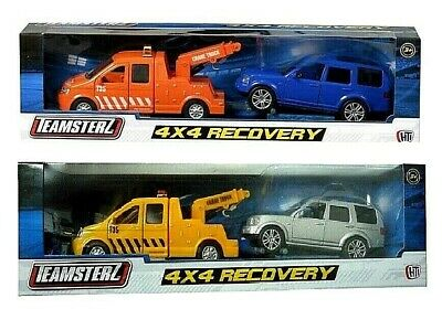 Teamsterz 4X4 Recovery Tow Truck And Car Scale Model Diecast Metal Toy Gift NEW • 6.85£