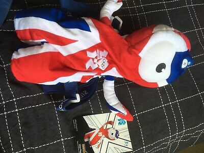 Official London 2012 Olympics: Wenlock Union Jack Backpack • 3.50£