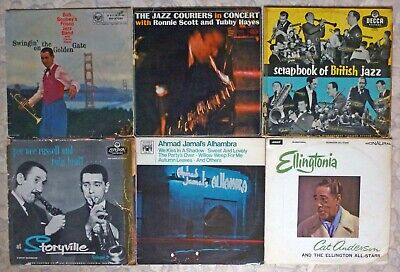 """Job Lot Of 6 Vintage Jazz Vinyl 12"""" LPs From The 1950s And 60s.  • 5£"""