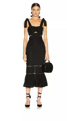 AU275 • Buy Brand New Alice Mccall A Foreign Affair Midi Black Dress Size 6 RRP$550