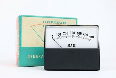 $29.99 • Buy GE Horizon Line Special Scale MASS Panel Meter 100uA 0-600 50-167111DRDR1JDZ NOS