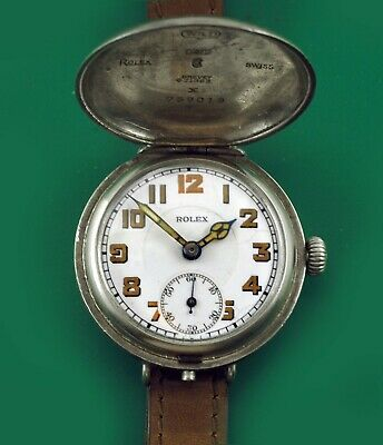 $ CDN2679.76 • Buy ROLEX Vintage 1915's Military Trench Antique Watch Porcelain Dial Hooded Hunter