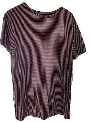 All Saints Mens Striped T Shirt Top Size Large Good Condition Baltic Tunic Crew • 4.99£