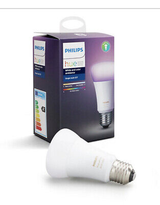 AU80.20 • Buy Philips Hue White And Colour Ambiance Lamp E27