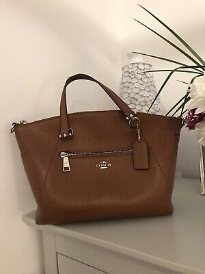 Immaculate Coach Tan Leather Bag • 35£