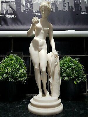 Large Alabaster Naked Lady Statue , Greek Lady , See Photos  • 5£