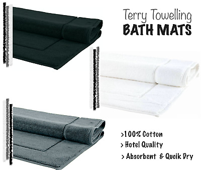 HOTEL QUALITY BATH MAT 100% COTTON MODERN BATHROOM TOWEL RUG BATH MATT 50 X 80CM • 8.95£