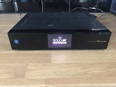 VU+ Solo 4K Box Only No Remote Or Hard Drive! Perfect Working Condition • 82£