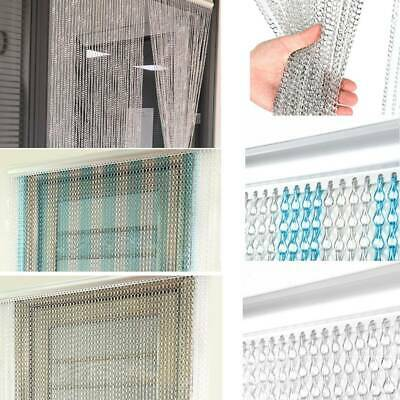 Aluminum Door Curtain Metal Chain Screen Fly Insect Mosquito Blinds Pest Control • 19.66£