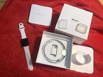 $ CDN320 • Buy Apple Watch Series 3 GPS LTE 42mm Stainless Steel Case White Small Sport Band