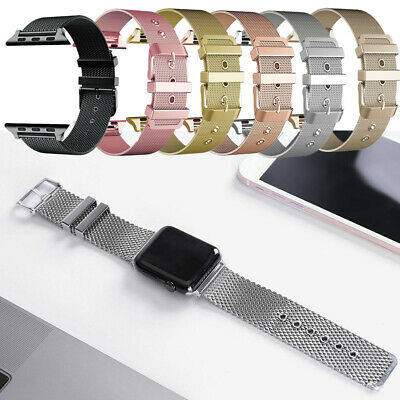 AU13.82 • Buy Milanese Loop Buckle Watch Strap Band For Apple Watch Series 54321 40/44/38/42mm