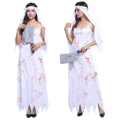 Ladies Zombie Corpse Bride Costume Halloween Fancy Dress Womens Horror Outfit • 5.29£