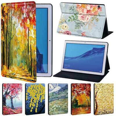 Painting Tablet Shell Stand Cover Case For Huawei MediaPad T3 8 10 / T5 10 • 7.99£