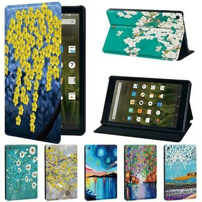 Painting PU Leather Tablet Stand Cover Case For Amazon Fire 7/HD 8/8 Plus HD 10 • 7.99£