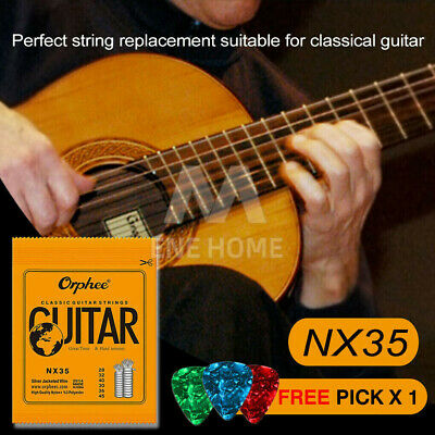 AU6.88 • Buy Nylon Guitar Strings Set Acoustic Classical Orphee Premium Universal 28-45