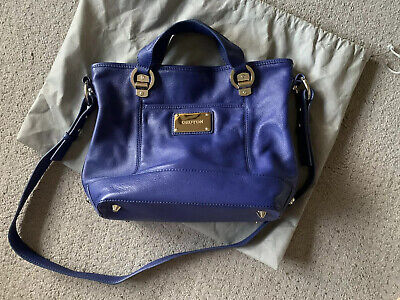 AU40 • Buy Oroton Abbey Small Blue Leather Satchel Cross Body Bag Euc ORP $395