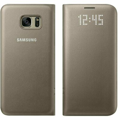 $ CDN38.80 • Buy Samsung Galaxy S7 Edge Official LED Display View Cover Flip Phone Case - Gold