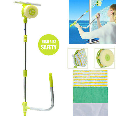 Telescopic Window Cleaner High Rise Cleaning Tool Kit Glass Wiper Squeegee Home • 21.62£