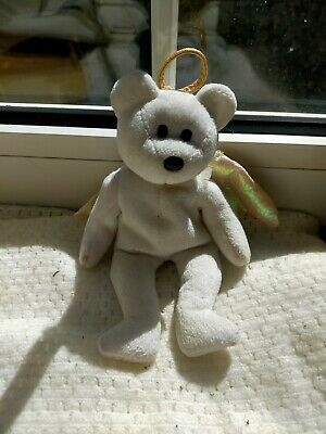 Ty Beanie Baby Teddy Bear Halo 1998 Retired Brown Nose Rare • 39.99£
