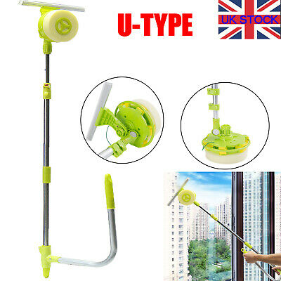 Window Brush Telescopic High Rise Glass Cleaner Windows Washing Cleaning Tools • 18.59£