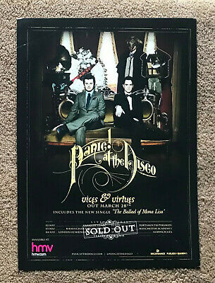 PANIC! AT THE DISCO - VICES & VIRTUES 2011 Full Page UK Magazine Ad • 3.95£