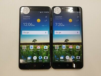 $96.99 • Buy Lot Of 2 ZTE Blade X Max Z983 32GB Cricket Check IMEI Poor Condition RJ-349