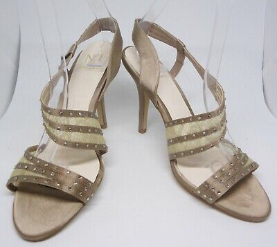 JENNY PACKHAM Taupe Gold Sparkly Heels Shoes 38 UK5 Wedding Party Occasion • 14£