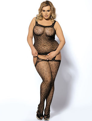 Sexy Body Stocking Lingerie Plus Size Sheer For Women Bodysuit Catsuit Chemise • 8.99£