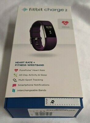 $ CDN53.62 • Buy Fitbit Charge 2 Unisex Activity Tracker Small Plum (Purple) INCLUDES Charger+Box