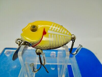 $ CDN1.32 • Buy Vintage  Heddon 380 Tiny Punkinseed Fishing Lure Xry Yellow Shore Bell Hdw