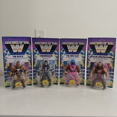 $100 • Buy Masters Of The WWE Universe Complete Set Wave 3 Rock Undertaker New Day Strowman